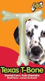 Fido Texas T-Bone Dental Dog Bone, Beef Flavored, Medium 5-1/2