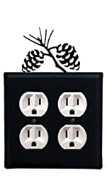 8 Inch Pinecone Double Outlet Cover