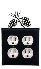 (8 Inch Pinecone Double Outlet Cover)