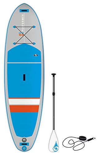 BIC Sport Performer SUP Air Inflatable Stand Up Package Complete with Paddle Board, Blue/Grey/Orange, 10'6