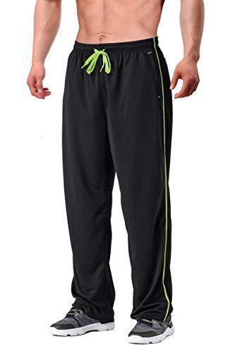 FASKUNOIE Men's Sweatpant Elastic Loose Fit Yoga Pants Quick Dry Joggers Breathable Pants with Zipper Pockets