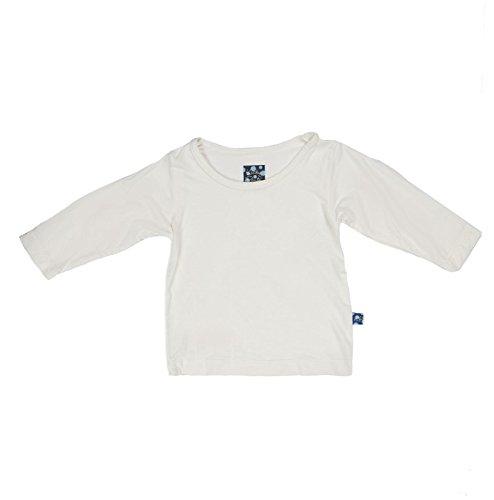 KicKee Pants Unisex Child Long Sleeve Tee - Natural - 4T