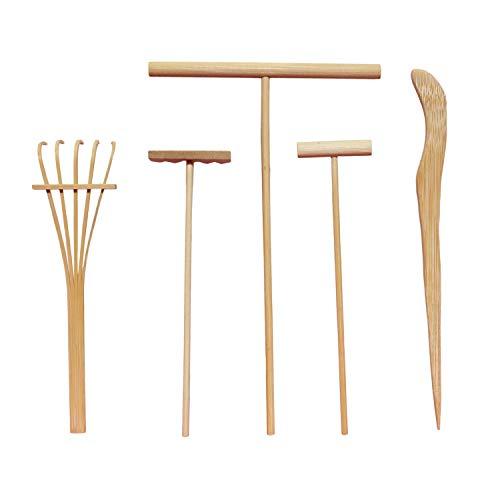 "5.5"" Mini Zen Garden Sand Rakes Set of 10 - Zen Garden Tool Rake Four Tine Desktop Rake (10 PCS)"