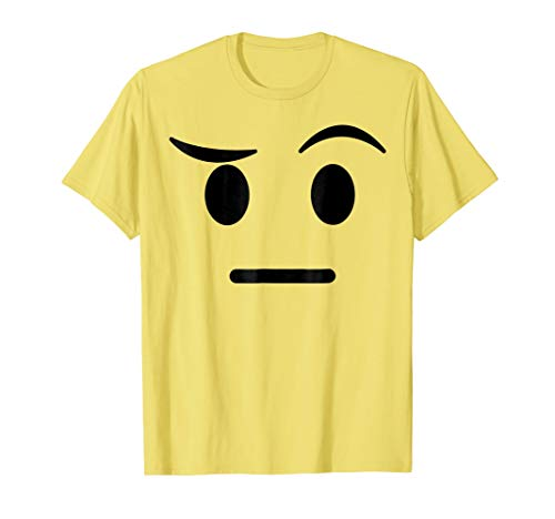 Halloween Emojis Costume Shirt Raised Eyebrow Sceptic -