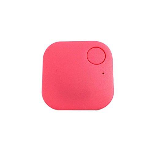 Smart Bluetooth Tracer Pet Child Wallet Key GPS Locator Tag Alarm(Pink) - 1