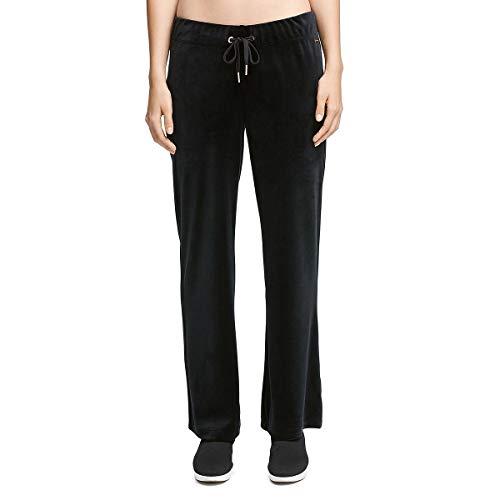 Donna Karan Active Womens Velour Lounge Sweatpants Black S