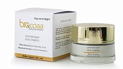 crema para la cara específica para aclarar las manchas oscuras - dermatológicamente probado - cosméticos naturales
