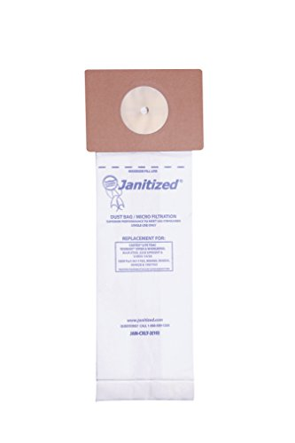 Janitized JAN-CXLT-2(10) Premium Replacement Commercial Vacuum Paper Bag, Nobles LiteTrac, Tennant Viper and Whirlwind, 16