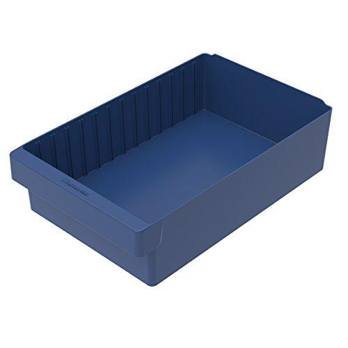 Akro-Mils 31118BLU AkroDrawer Plastic Shelf Bin (4 Pack), 17-5/8'' x 11-1/8'' x 4-5/8'', Blue by Akro-Mils