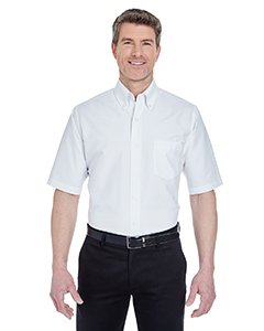 (UltraClub mens Classic Wrinkle-Free Short-Sleeve Oxford(8972)-WHITE-XL)