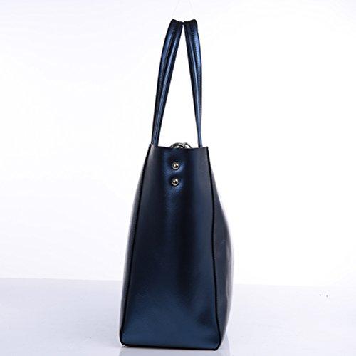 Sac à cuir avec à femme en Sac à pour fendu femme bandoulière un à décontracté petit bleu décontracté Sac pour cosmétiques bandoulière LUOEM bandoulière sac 5xa0YAna