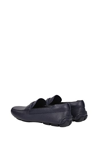 Loafers Prada Herren Leder Baltic 2DD127BALTICOTORO Blau 41EU