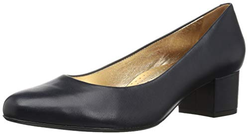- MARC JOSEPH NEW YORK Women's Leather Made in Brazil Classic Broad Street Pump, Navy Napa, 9 B(M) US