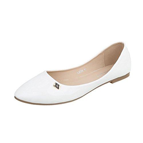 Zapatos para mujer Zapatillas Plano Zapatillas altas Ital-Design Blanco L5136
