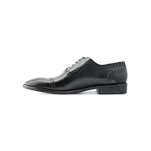 f54af3490be48a Oxford Shoes Men s Shoes Handmade Black Leather Natural Tanning durable  service