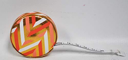 Fashion Smart Mini Metallic Retractable 5 Foot Tape Measure (Chevron) ()