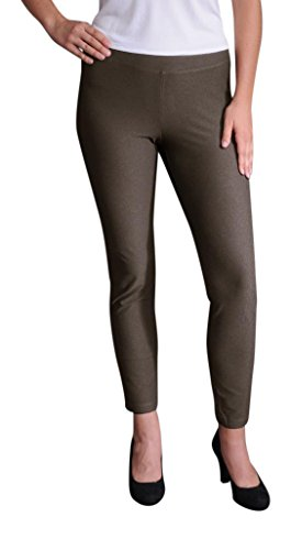 Eileen Fisher Washable Stretch Crepe Slim Ankle Pant w/ Yoke Waistband (M, (Womens Stretch Crepe)