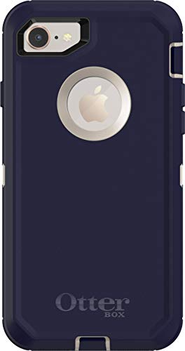 iPhone 8 Case - OtterBox Defender Series Case for iPhone 8 & iPhone 7 (Case Only - Holster Not Included) - Pale Beige/Maritime Blue