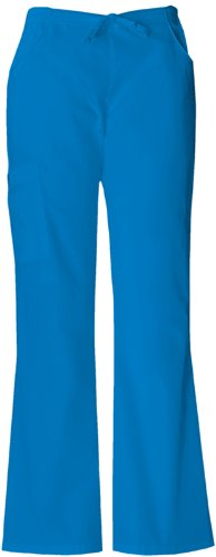 Dickies Medical Scrubs 854206 Women's Missy Fit Every Day Scrubs Back Elastic Flare Leg Pant Island Blue 5X-Large