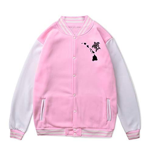Price comparison product image Unisex Baseball Jacket Uniform Hawaii Island Turtle Boys Girls Hoodie Sweatshirt Sweater Tee