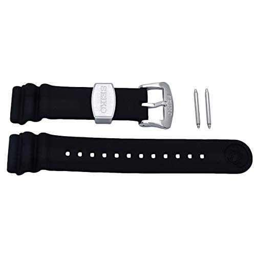 - Seiko 22mm Black Resin Diver Strap for Series SRP773/775/777/779