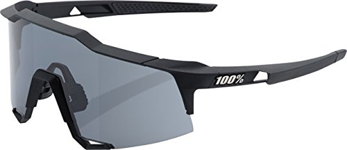 100% Speedcraft Sunglasses Soft Tact Black (With) Smoke Lens, One Size - - 100% Sunglasses