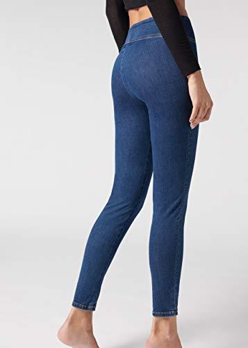 CALZEDONIA Femme Legging effet jean taille mi-haute