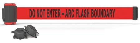 Belt Barrier, Do Not Enter Arc Flash