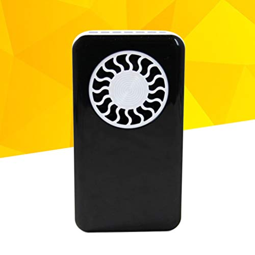 VORCOOL Mini Portable Handheld Fan Cooler USB Rechargeable Desk Fan with Lanyard for Home Office Outdoor Travel (Black) by VORCOOL (Image #2)