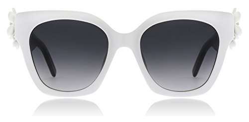 Marc Jacobs White Sunglasses - Marc Jacobs Women's Daisy Sunglasses, White Black/Dark Grey Gradient, One Size