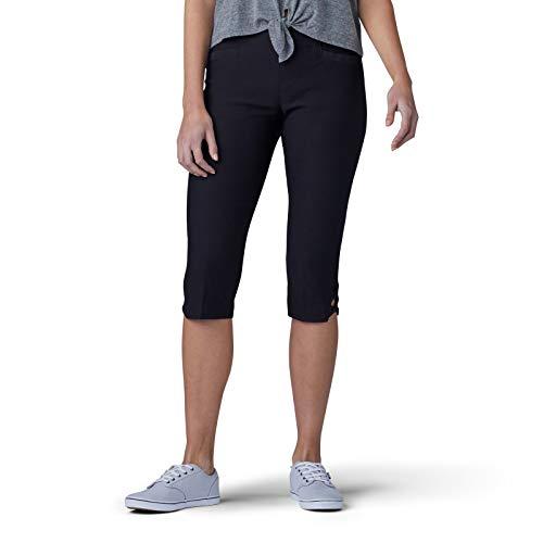 (LEE Women's Sculpting Slim Fit Pull-On Vent Hem Skimmer Pant, Black 12)