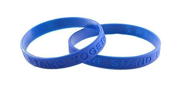 Amazon Com Colon Cancer Awareness Silicone Bracelet 25 Pack Clothing