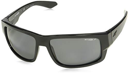 Arnette Grifter AN4221 - 41/81 Sunglasses Black Frame w/ Polar Gray Lens 62MM