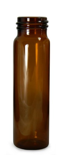 - Qorpak GLA-00801 Borosilicate Glass 5 Drams Screw Thread Sample Vial, with 24-400 Neck Finish, Amber (Case of 144)