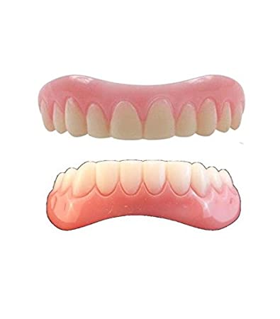 Amazon instant smile veneer set with medium top set of white instant smile veneer set with medium top set of white teeth and bottom set of white solutioingenieria Choice Image