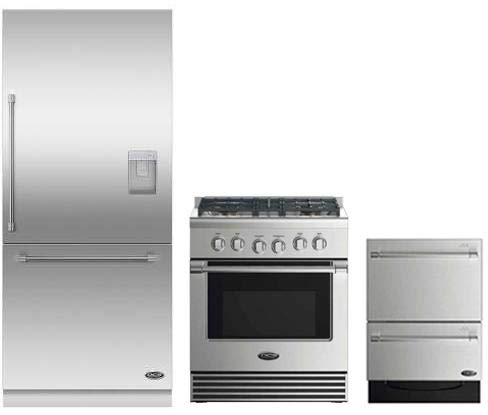 DCS 3 Piece Stainless Steel Kitchen Package With RDV2304N 3O