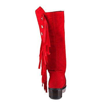 Ch & Tou Femmes-bottines-formel Décontracté Soirée Et Soirée-autre-plateau-peluche-noir Jaune Rouge Gris, Us7.5 / Eu38 / Uk5.5 / Cn38
