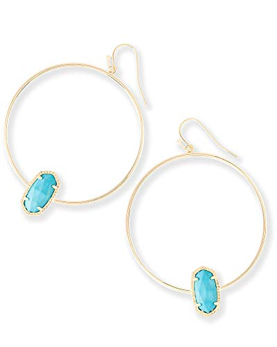 Kendra Scott Womens Elora Earring Gold/Turquoise Magnesite