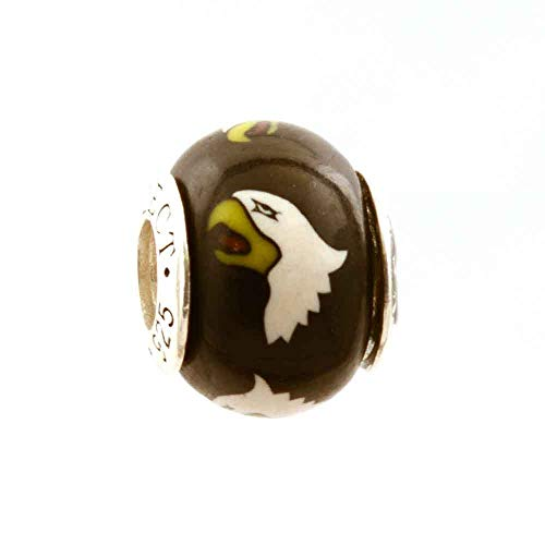 Screaming Eagles 101st Airborne Bead Charm for Add-A-Bead Bracelets Clay & Sterling Silver by MAYselect ()