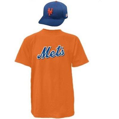 New York Mets CAP & ADULT XL JERSEY MLB Licensed Replica Combo Set