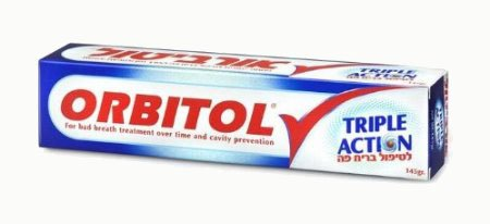 Kosher Toothpaste (Orbitol Triple Action Oral Anti-odor Toothpaste Kosher 145-grams Tubes (Pack of)