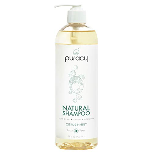 Puracy Natural Daily Shampoo, 3rd Generation Sulfate-Free Formula, All Hair Types, 16 ()