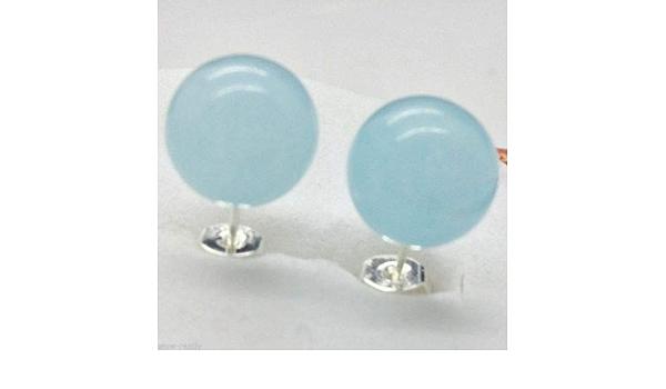 Earrings with blue jade silver earrings stone earrings chain earrings large earrings