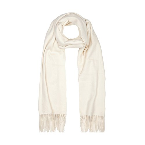 100% Cashmere Ladies cashmere Stole, White by Oxfords Cashmere