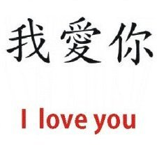 I love you - Chinese Symbol - WATCHBUDDY DELUXE SILVER TONE WATCH - Black Strap - Small Size (Children's: Boy's & Girl's Size)