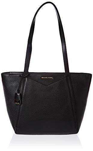 Michael Kors black leather tote | MICHAEL Michael Kors Whitney Small Top Zip Tote Black One Size