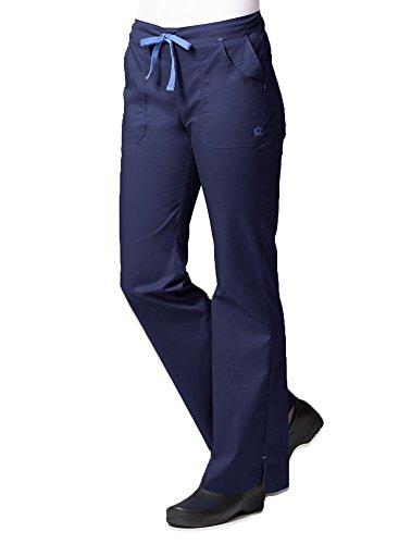 Blossom By Maevn Women's Multi Pocket Flare Leg Scrub Pant XX-Large Petite Navy/Light (Four Pocket Flare Leg Scrub)