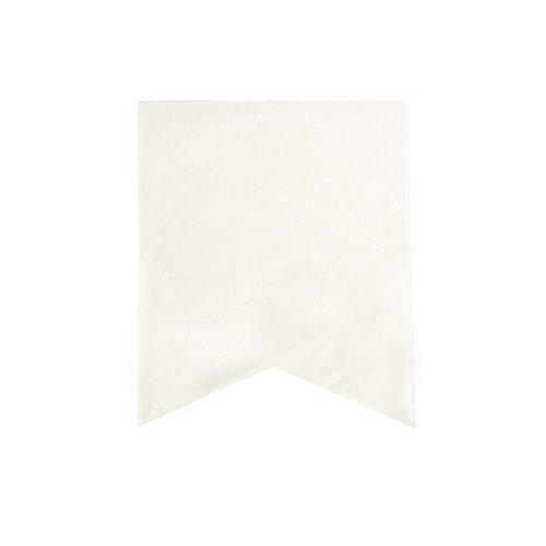 - Darice Canvas Banner Flags in Fishtail Design, White (30030343)
