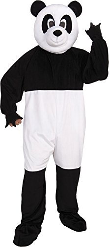 UHC Unisex Panda Plush Mascot Jumpsuit Funny Theme Party Adult Halloween Costume, OS (Up to 42) -