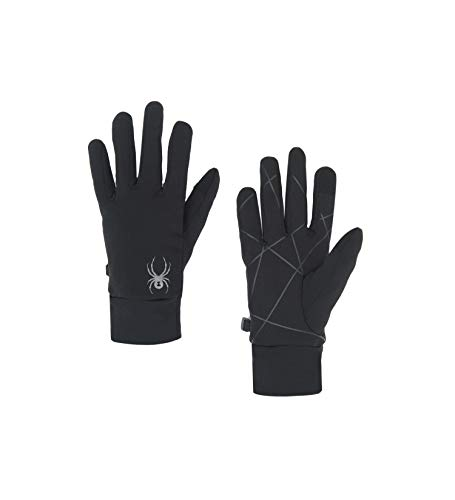 Spyder Women's Serenity Stretch Fleece Glove, Black/Black, Large